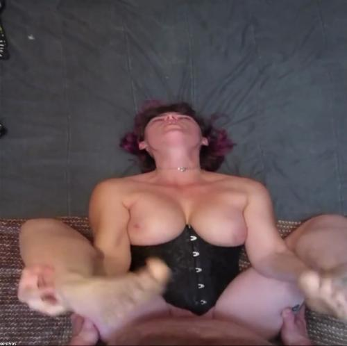Fucked nice and hard till he cums in my tight pussy wearing my sexy corset | Dixie Moon