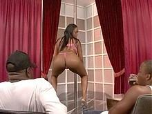 Blackicepass.com- Brown  Suga Gets Her Big Ass Creamed After Pole Dancing