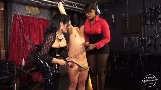 The Milking Machine – Used By 2 Ladies – Mistress Ava Black, Ezada Sinn. Kinkymistresses.com (299 Mb)
