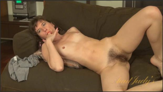 Auntjudys.com- Victoria fingers her wet pussy and gets off.