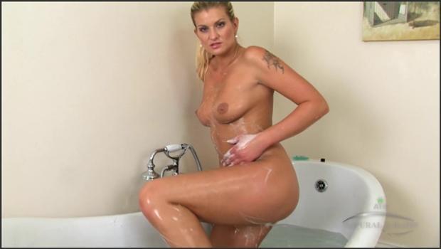Auntjudys.com- Hairy blonde Samantha Snow takes a shower.