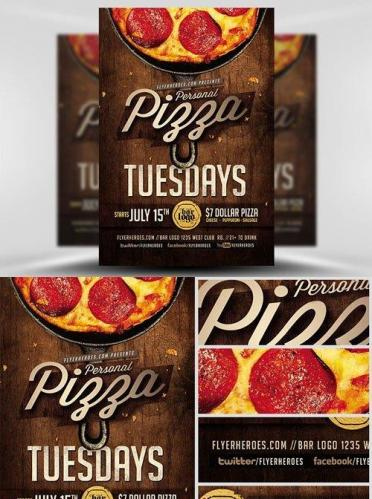 Pizza Tuesdays Flyer Template