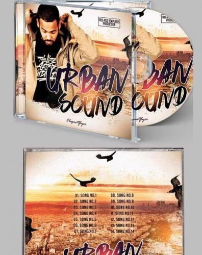 Urban Sound CD Cover PSD Template