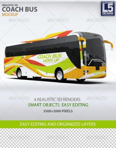 Coach Bus mockup