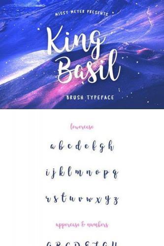 King Basil Brush Font
