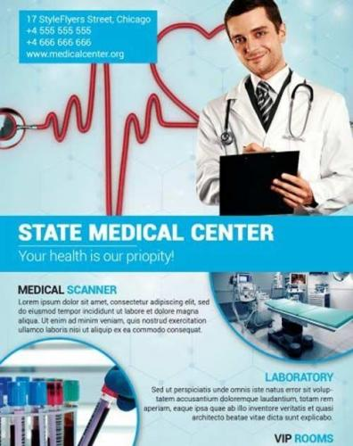 Medical Center PSD Flyer Template
