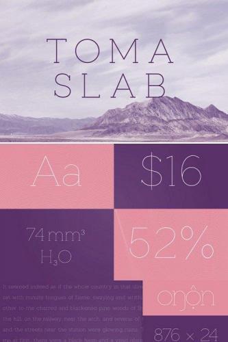 Toma Slab Typeface