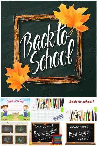 Back to school.Collection of school supplies in vector