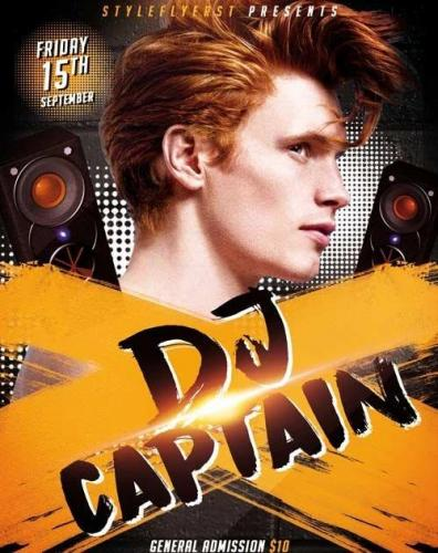 Dj Captain PSD Flyer Template