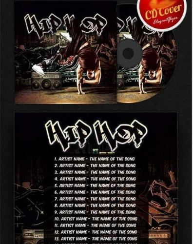 Hip Hop CD Cover PSD Template