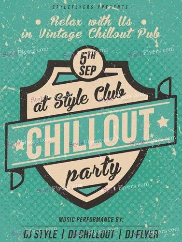 Chillout Party PSD Flyer Templater