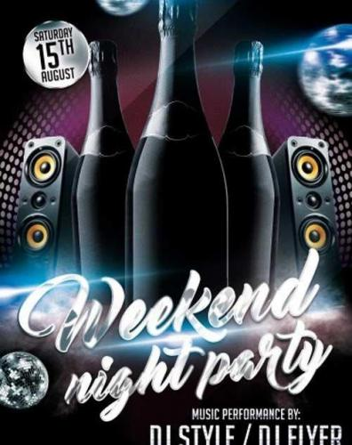 Weekend Night Party PSD Flyer Template