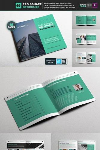 Multipurpose Square Brochure 49