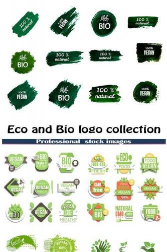 Eco and Bio logo collection