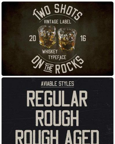 Two Shots On The Rocks Font