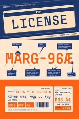 License Font Family