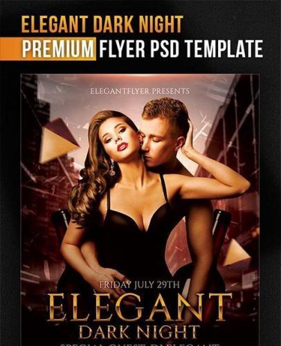 Elegant Dark Night Flyer PSD Template