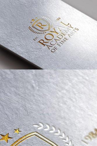 PSD Mock-Up - Gold Foil Logo