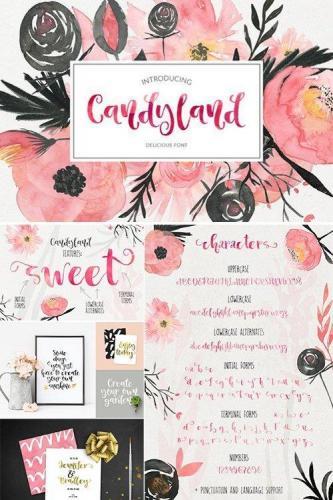 Candyland - delicious font