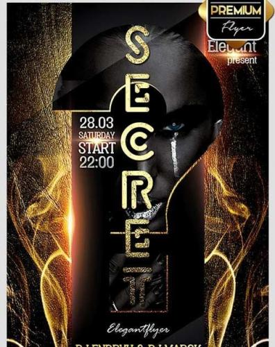 Secret Night Flyer PSD Template