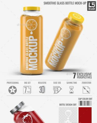 Smoothie Glass Bottle Mock-Up