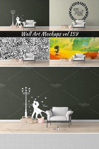 Wall Mockup - Sticker Mockup Vol 159