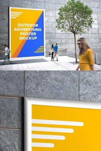 PSD Mock-Up - Outdoor Advertising Poster