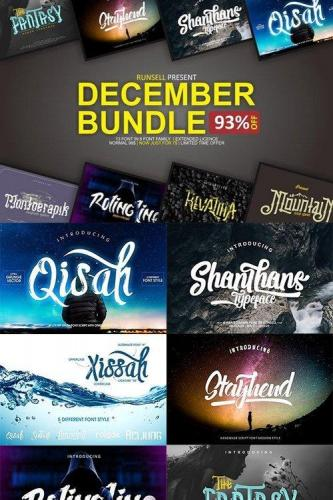 December Font Bundle 1096094