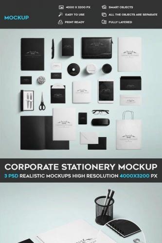 3 Corporate Stationary PSD Mockup