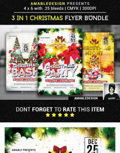 3 in 1 Christmas Flyer-Poster Vol.1
