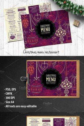 Food menu, restaurant flyer 23