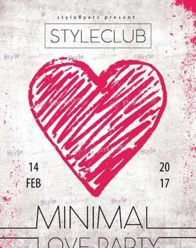 Minimal Love Party PSD V4 Flyer Template