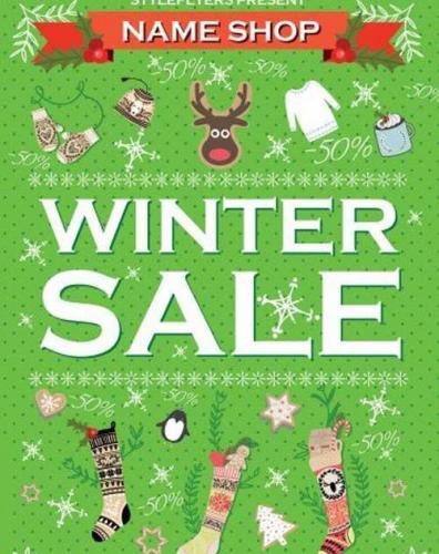 Winter Sale Flyer V5 PSD Flyer Template