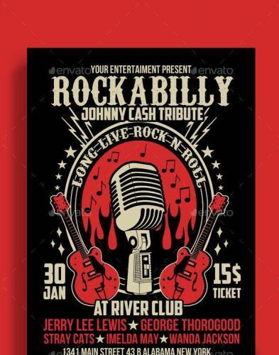 Rockabilly Music Show Poster Flyer