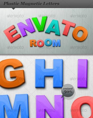 Plastic Magnetic Letters