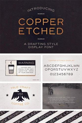 Copper Etched Display Font