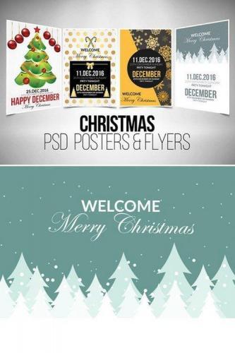 4 Christmas Flyer Template Bundle