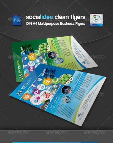 Socialidea Corporate Social Media Flyer-Ads