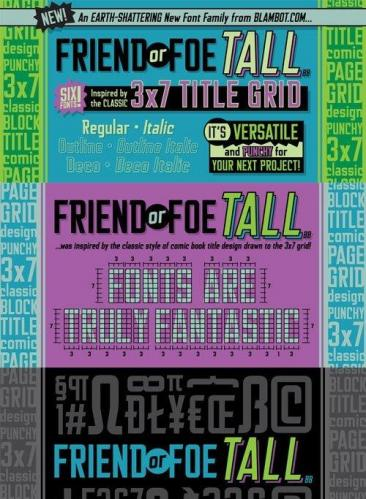 Friend Or Foe Tall BB Font Family