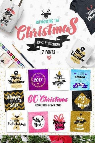 Christmas Bundle of 7 Fonts