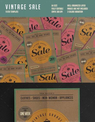 Vintage Sale Flyer