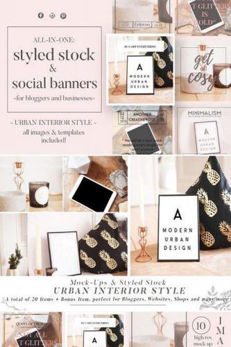 Mock Up & Social Media Banner Bundle