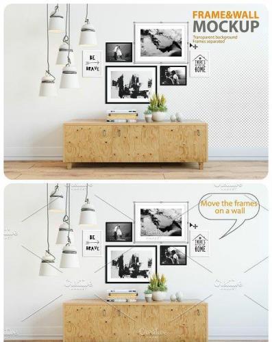 Frame & Wall Mockup