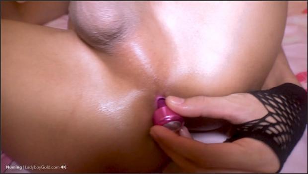 ladyboygold.com- Jeweled Plug Spunk Topping Bareback 4k