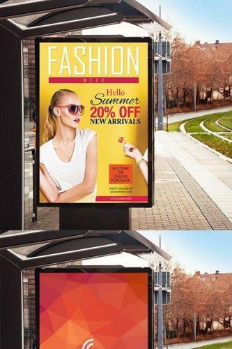 PSD Mock-Up - Bus Stop Billboard Banner
