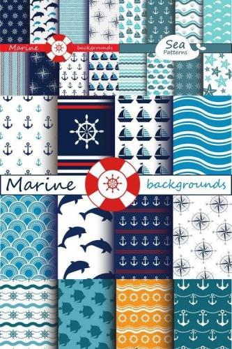 Sea & Marine Patterns Collection