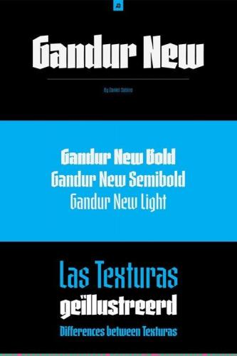 Gandur New Font Family