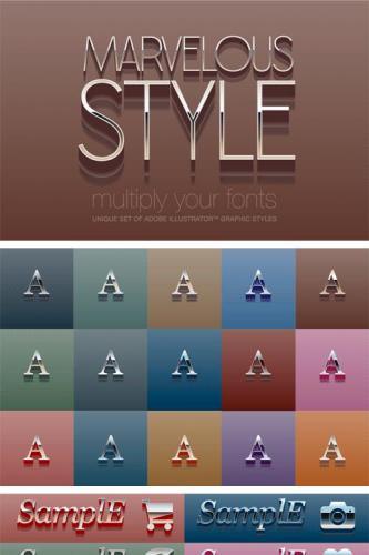 Adobe Illustrator styles Marvelous