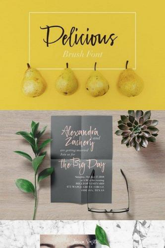 Delicious Brush Font