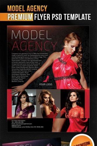 Model Agency Flyer PSD Template